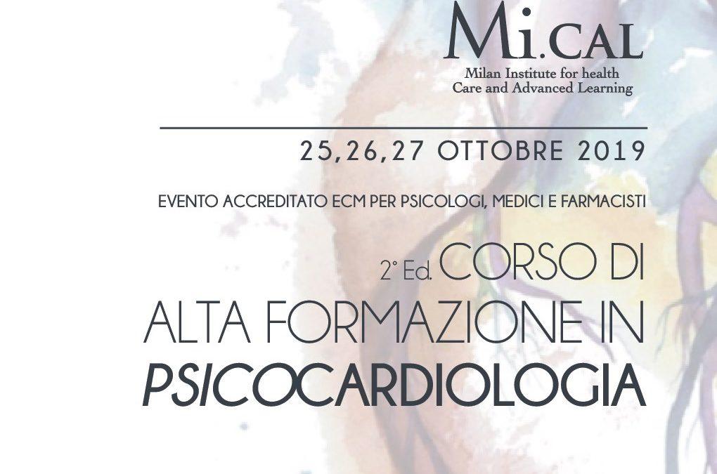 Corso di Alta Formazione in Psicocardiologia – 25,26,27 ottobre 2019