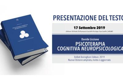 Presentazione Nuovo Manuale di Psicoterapia Cognitiva Neuropsicologica – 17 settembre 2019