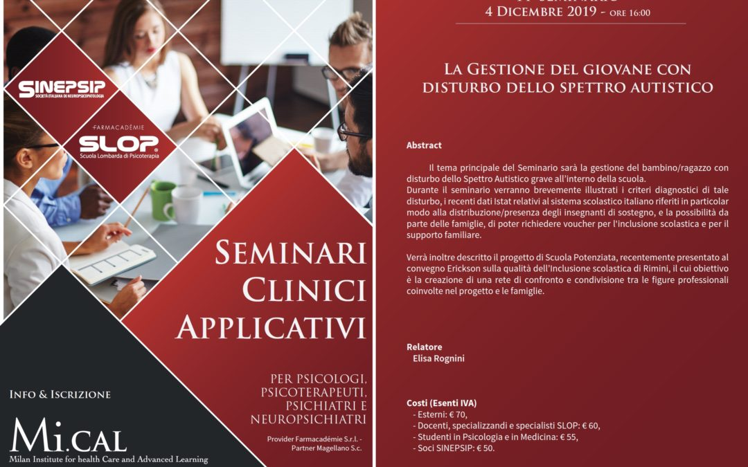 14° Seminario Clinico Applicativo – 04 dicembre 2019