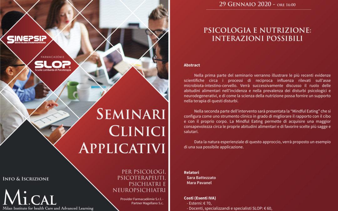 15° Seminario Clinico Applicativo – 29 gennaio 2020