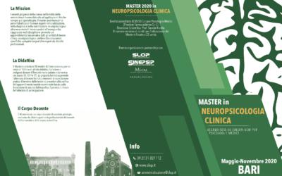 Master 2020 in Neuropsicologia Clinica – Bari – 16 maggio 2020