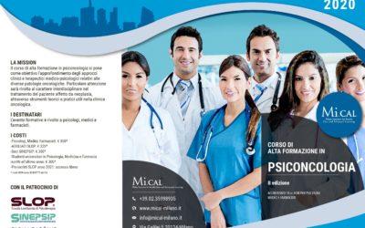 Corso di Alta Formazione in Psiconcologia (2°ed.) – 25,26,27 Settembre 2020