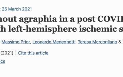 Alexia without agraphia in a post COVID-19 patient with left-hemisphere ischemic stroke