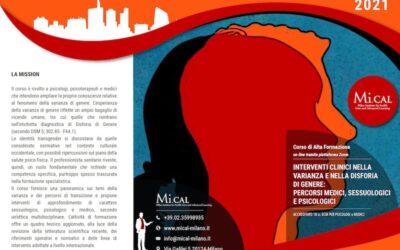 Corso di Alta Formazione in Interventi Clinici nella Varianza e nella Disforia di Genere: Percorsi Medici, sessuologici e Psicologici – 12-14 Novembre 2021